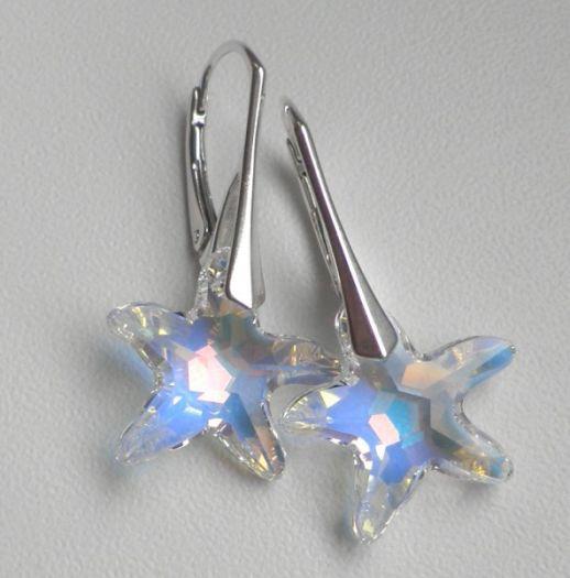 Swarovski starfish - náušnice d4f43e22c25